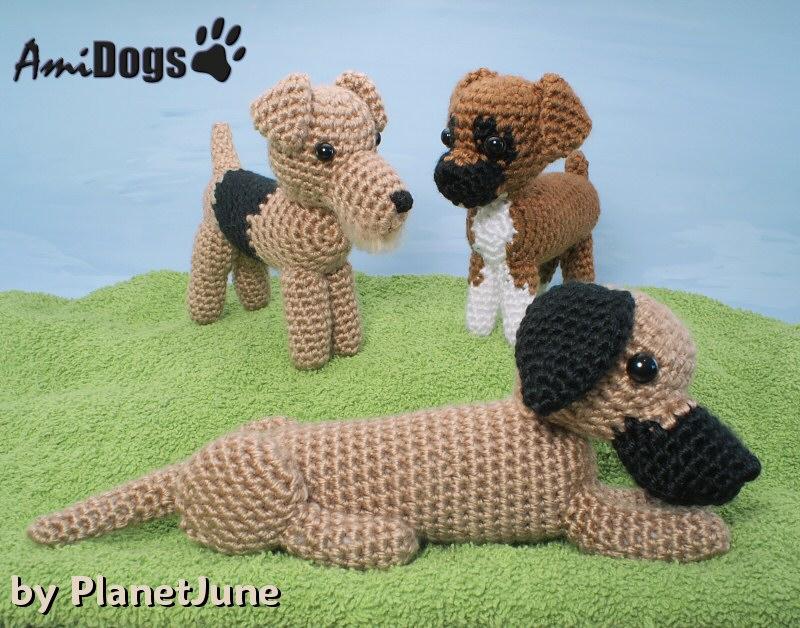 Amigurumi Crochet Size : AmiDogs Set 5 - THREE amigurumi crochet patterns ...