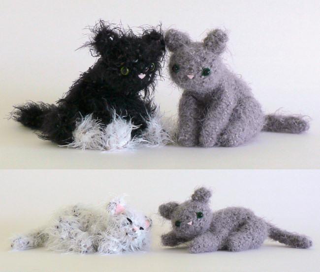 Fuzzy Kitten amigurumi crochet pattern : PlanetJune Shop ...