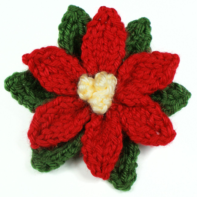 Crocheted Pattern Poinsettia Flowers Search Results ...