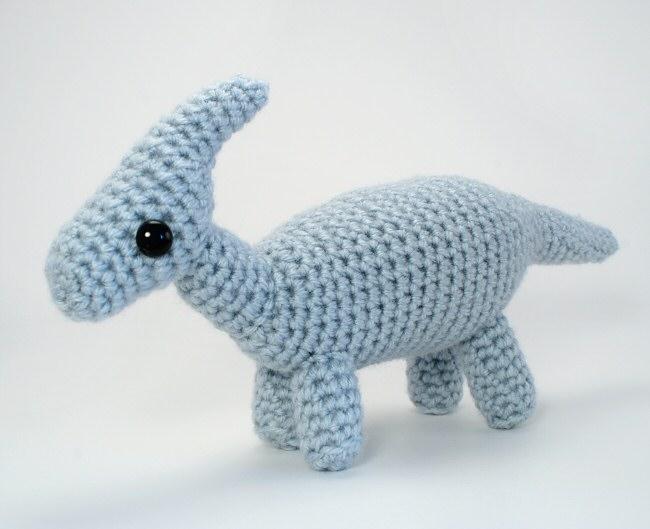 Amigurumi Dinosaur Free Pattern : Parasaurolophus amigurumi dinosaur crochet pattern : planetjune