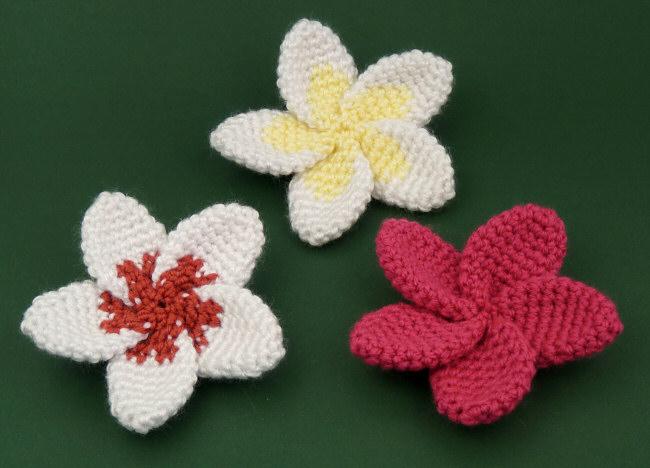Plumeria Donationware Flower Crochet Pattern Planetjune Shop Cute