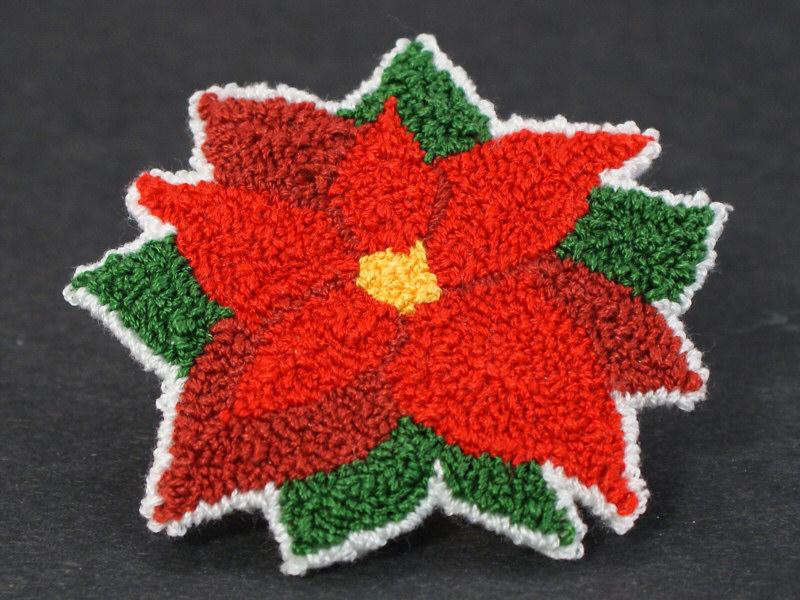 Poinsettia Donationware Punchneedle Embroidery Pattern Planetjune
