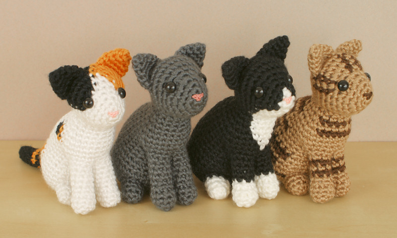 Amigurumi Crochet Pattern : Amicats collection four amigurumi crochet patterns : planetjune