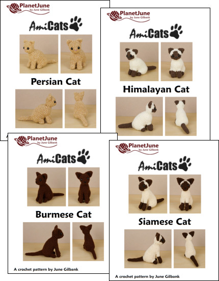 AmiCats Collection 2 - FOUR amigurumi cat crochet patterns - Click Image to Close
