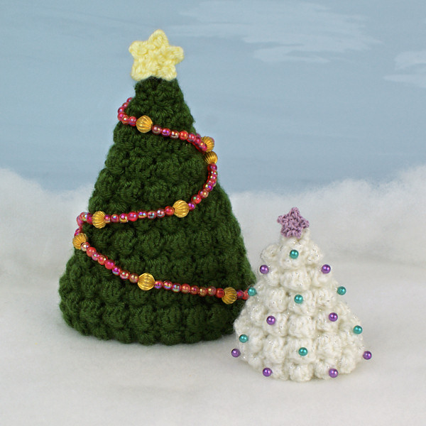 Free Crochet Patterns Christmas Tree Topper : Christmas Trees crochet pattern : PlanetJune Shop, cute ...