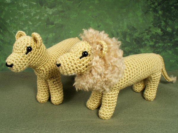 Amigurumi Mane : Lion and Lioness amigurumi crochet pattern : PlanetJune ...