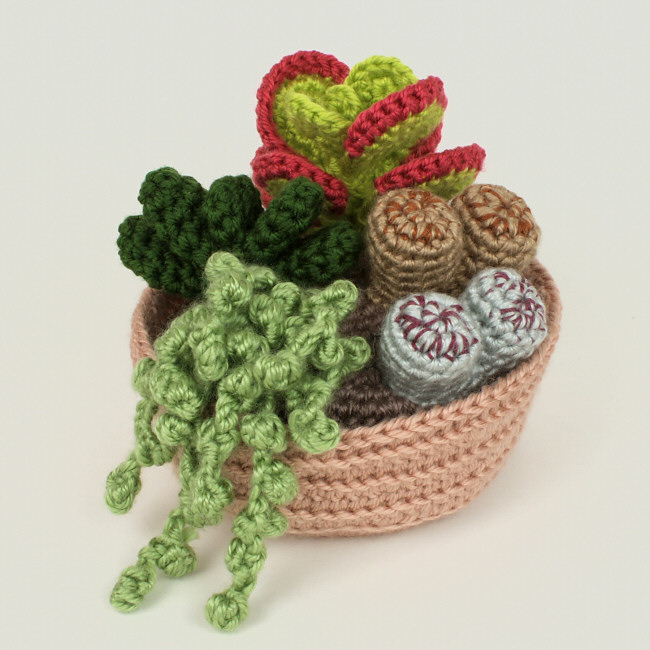 Succulent Collection 2 Four Realistic Crochet Patterns