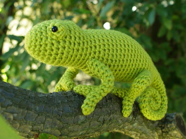 Amigurumi Chameleon : Chameleon (lizard) amigurumi crochet pattern : PlanetJune ...