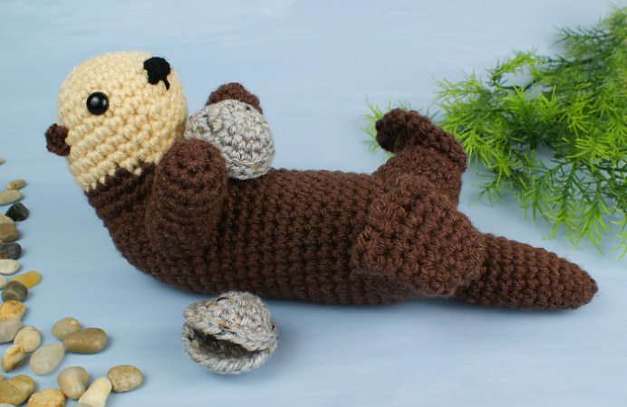 Amigurumi Crochet Pattern : Sea otter amigurumi crochet pattern : planetjune shop cute and