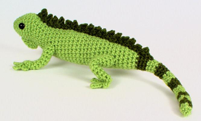 T Rex Amigurumi Pattern Free : Iguana (lizard) amigurumi crochet pattern : PlanetJune ...