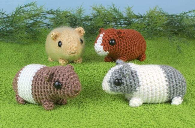 Baby Guinea Pigs Four Amigurumi Crochet Patterns Planetjune Shop