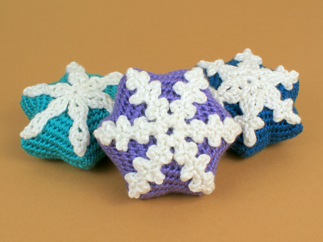Snow Star Ornaments Crochet Pattern 3 Unique Designs Planetjune
