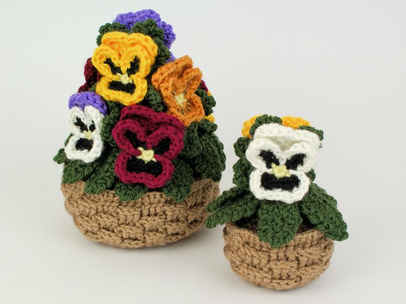 Pansies Crochet Pattern Pansy Baskets Mp045 Usd 650