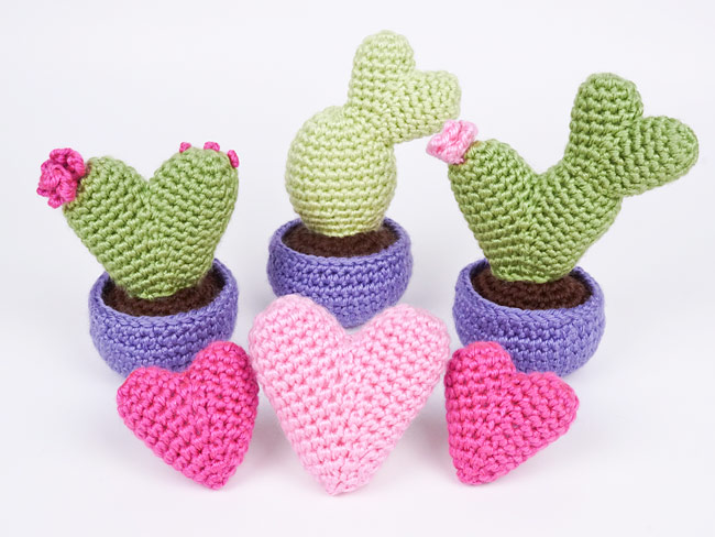 Heart Cactus Collection Four Crochet Patterns Mp049 Usd 600