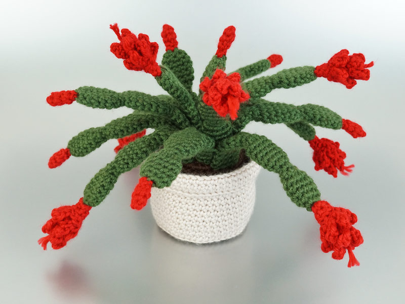 christmas cactus crochet pattern planetjune shop cute and realistic crochet patterns more - Christmas Catus