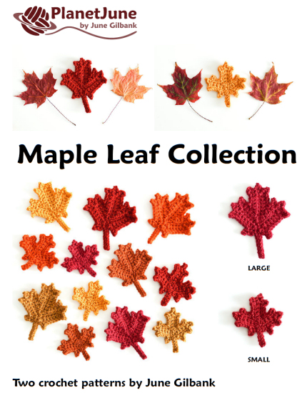 Maple Leaf Collection & Canadian Flag: THREE crochet patterns - Click Image to Close