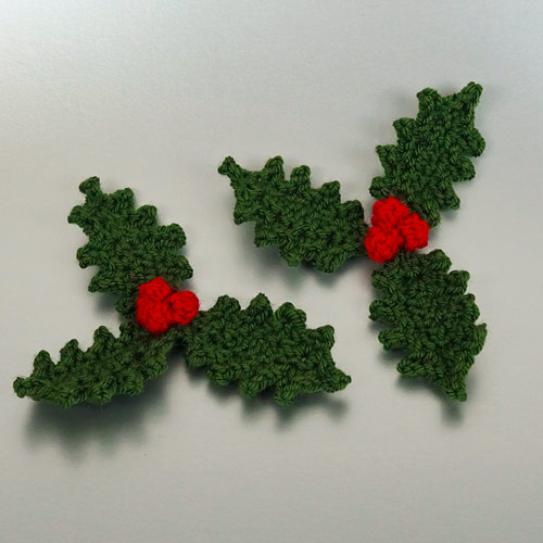 Christmas Decor Set 1: Holly & Candles crochet patterns - Click Image to Close