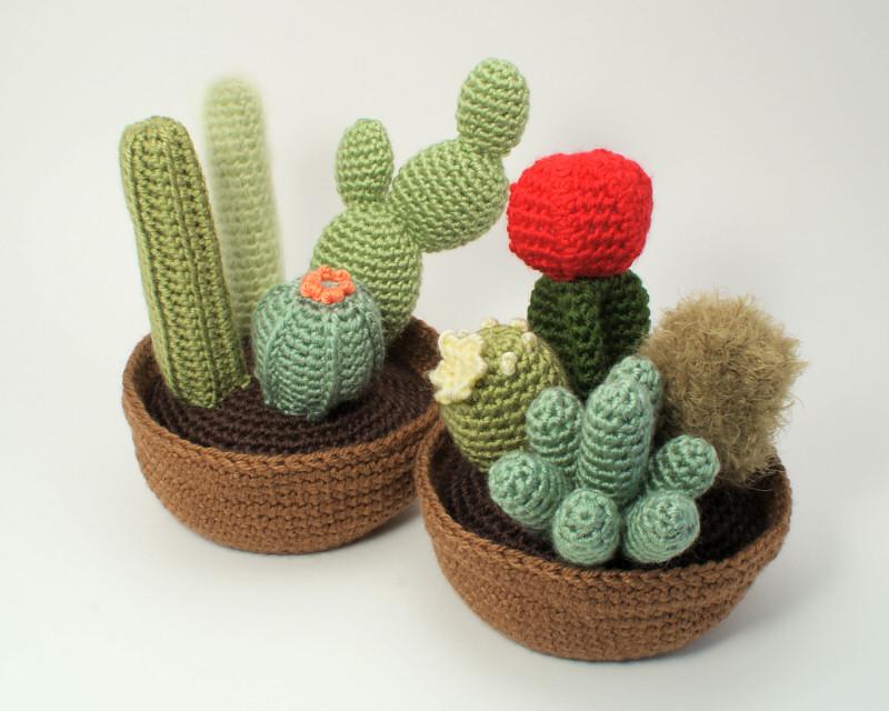 Amigurumi Cactus : Amigurumi cactus amigurumi crochet cactus in clay pots cactus all