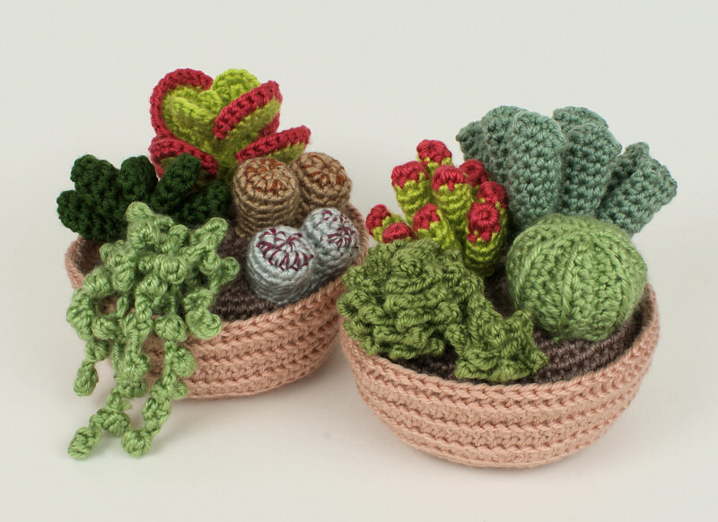 Cactus Fantasia Amigurumi Tejidos A Crochet : Succulent Collections 1 and 2 - EIGHT crochet patterns ...