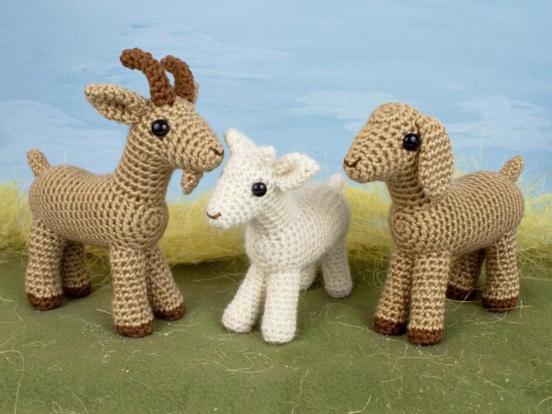 Farmyard Goats Amigurumi Crochet Pattern Nf004 Usd 600