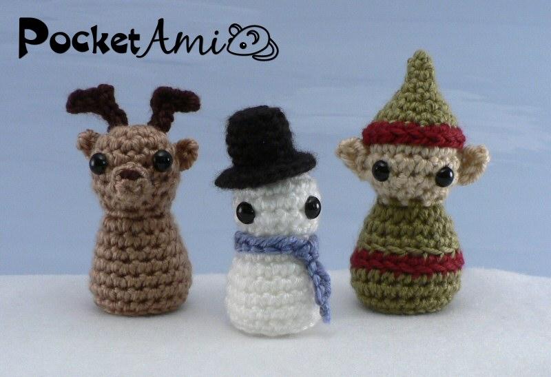 PocketAmi Set 4: Christmas - three amigurumi crochet ...