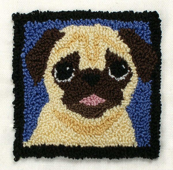 Punchneedle Embroidery Pattern Pug Planetjune Shop Cute And