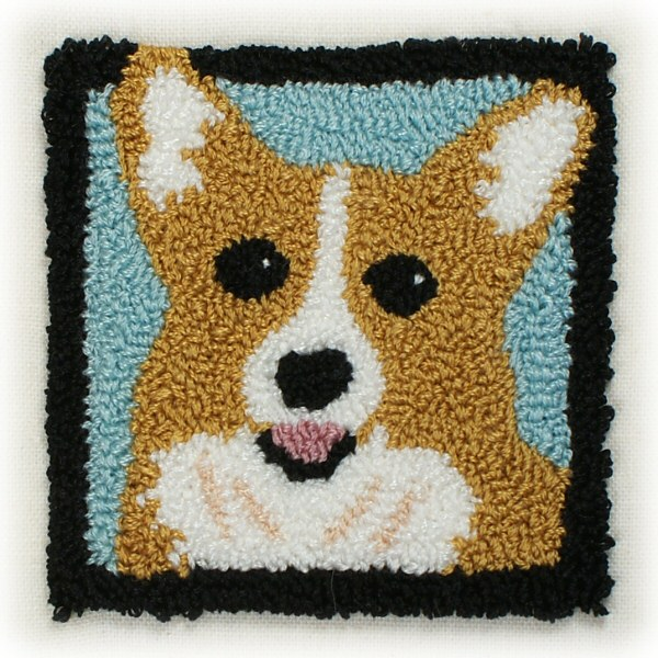 Punchneedle Embroidery Pattern Welsh Corgi Planetjune Shop Cute