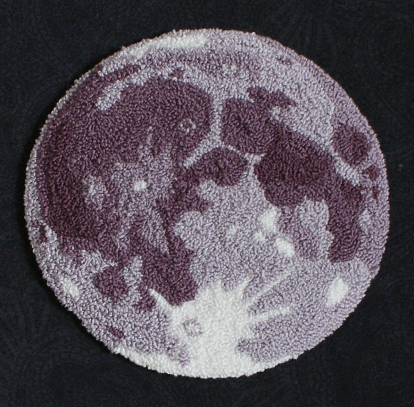 Punchneedle Embroidery Pattern: The Moon