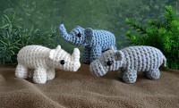 elephant, hippo & rhino multipack