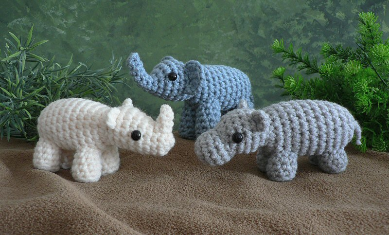 Miniature elephant figurine, Realistic elephant tiny stuffed ... | 483x800
