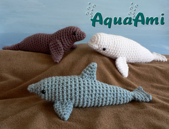 Aquaami Set 1 Three Amigurumi Crochet Patterns Planetjune Shop
