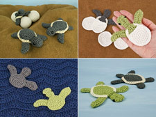 amigurumi and applique baby sea turtle multipack