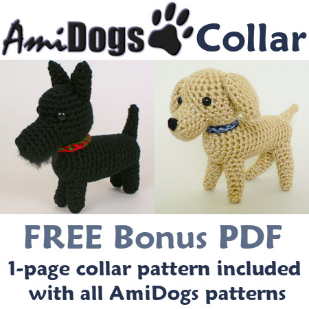 Amidogs Collar Donationware Crochet Pattern Planetjune Shop Cute