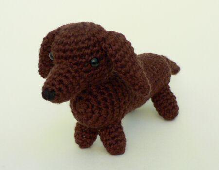Free Crochet Pattern Wiener Dog : AmiDogs Dachshund amigurumi crochet pattern : PlanetJune ...