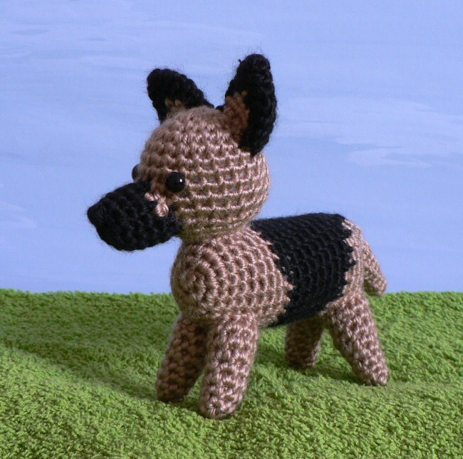 German Shepherd dog crochet pattern PDF. English USA from ... |Crochet German Shepherd