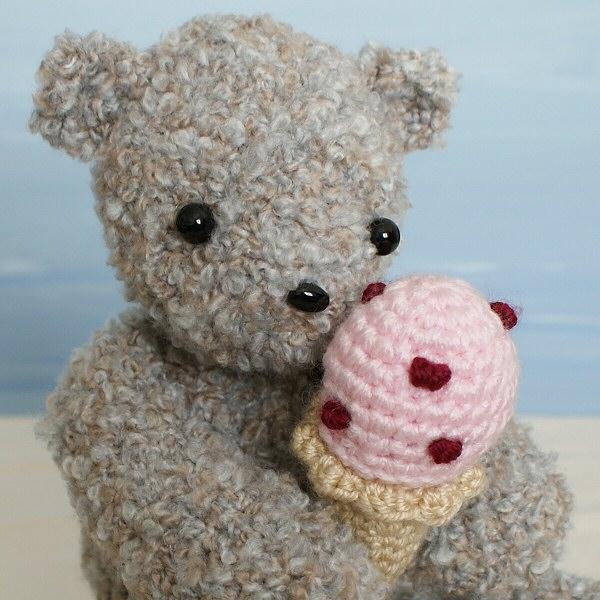 Ice Cream Bear Amigurumi Crochet Pattern Planetjune Shop Cute And