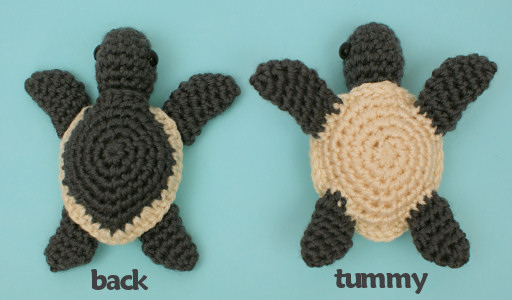 Baby Sea Turtle Collection THREE Amigurumi Crochet Patterns Fascinating Crochet Turtle Pattern