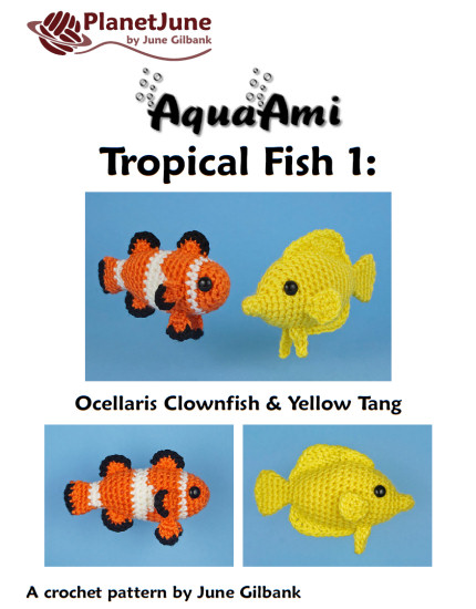 Tropical Fish Set 1: TWO amigurumi fish crochet patterns - Click Image to Close