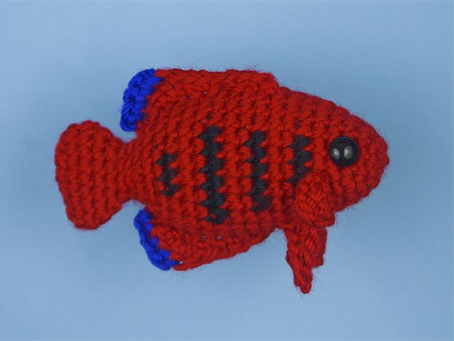 Tropical Fish Set 4 Two Amigurumi Fish Crochet Patterns