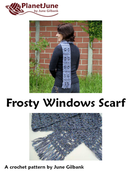 Frosty Windows Scarf DONATIONWARE crochet pattern - Click Image to Close