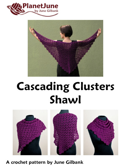 Cascading Clusters Shawl crochet pattern - Click Image to Close