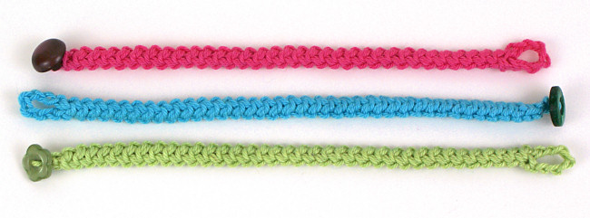 Crochet Braid Bracelet DONATIONWARE crochet pattern - Click Image to Close