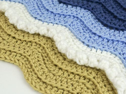 Ribbed Ripple/Turtle Beach blanket DONATIONWARE crochet pattern - Click Image to Close