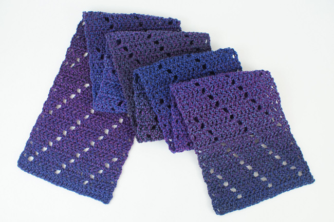 Leaning Ladders Scarf DONATIONWARE crochet pattern - Click Image to Close