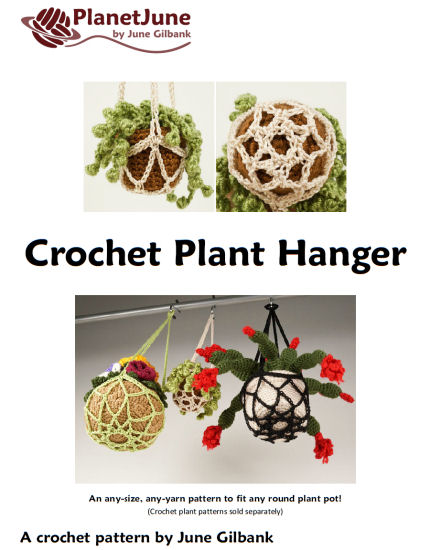 Crochet Plant Hanger DONATIONWARE crochet pattern - Click Image to Close