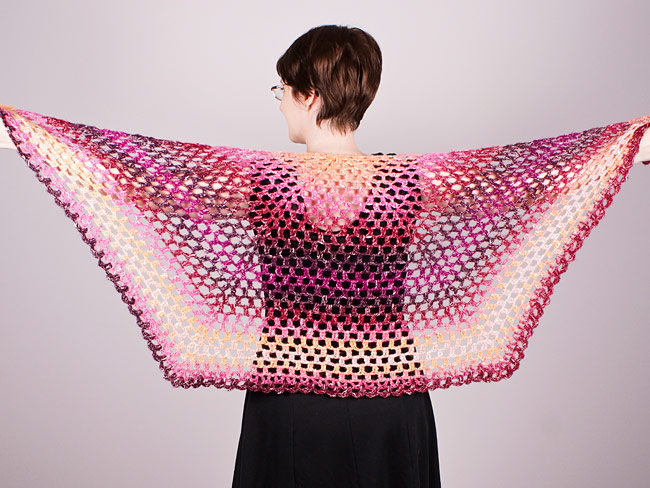 Half-Hexagon Shawl crochet pattern - Click Image to Close