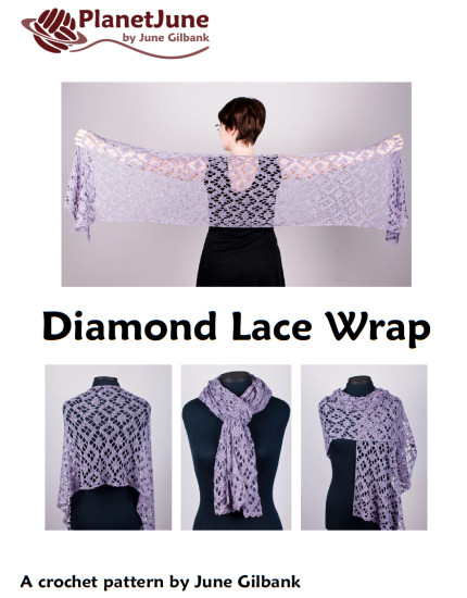 Diamond Lace Wrap crochet pattern - Click Image to Close