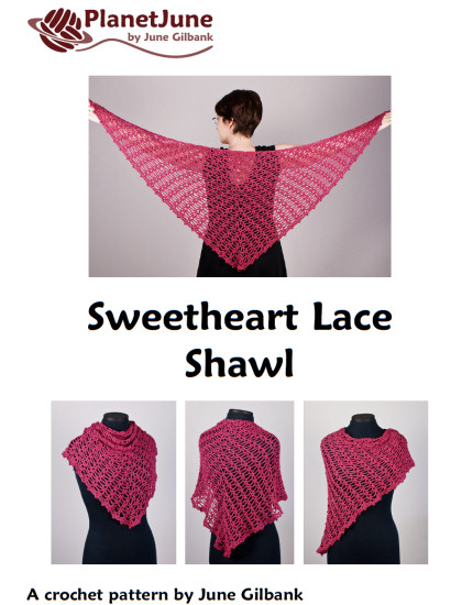 Sweetheart Lace Shawl crochet pattern - Click Image to Close