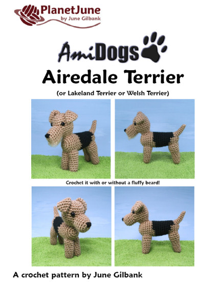AmiDogs Airedale Terrier amigurumi crochet pattern - Click Image to Close