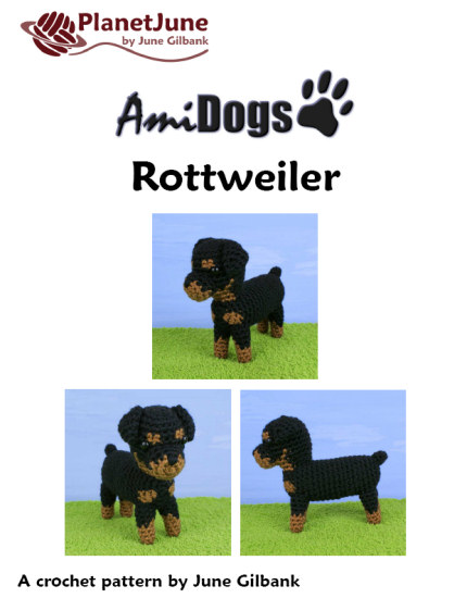 AmiDogs Rottweiler amigurumi crochet pattern - Click Image to Close